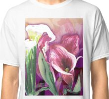 White, pink lilies Classic T-Shirt