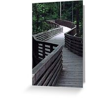 Boardwalk zigzag Greeting Card