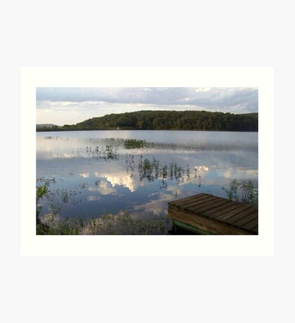 MUUSA lake mirror sky Art Print