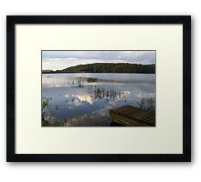 MUUSA lake mirror sky Framed Print