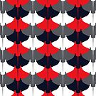 Manta Ray Pattern (Blue and Red) by jezkemp