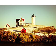 Nubble Lighthouse Photographic Print