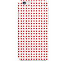 Red Dots on White Pattern iPhone Case/Skin