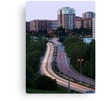 Vertical View of City Traffic Canvas Print