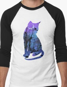 CATMOON Men's Baseball ¾ T-Shirt