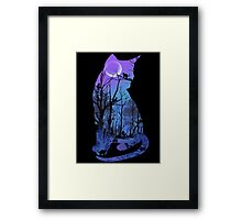 CATMOON CARD Framed Print