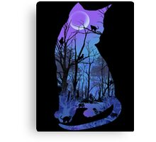 CATMOON CARD Canvas Print