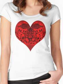 INDIANHEART Women's Fitted Scoop T-Shirt