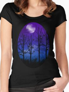 OWLMOON Women's Fitted Scoop T-Shirt