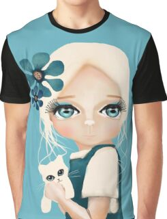 Snow Kitten Graphic T-Shirt
