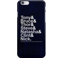 Avengers Team Jetset iPhone Case/Skin