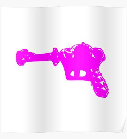 Alien Ray Gun - Pink Poster