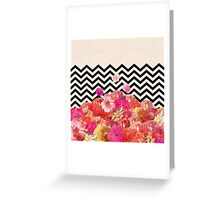 Chevron Flora II Greeting Card