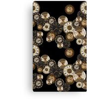 Clockwork Black Canvas Print
