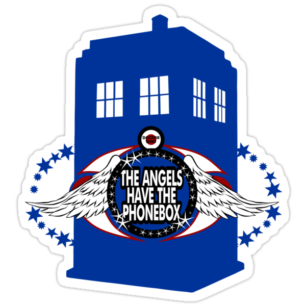 Doctor Who - The Angels have the Phonebox (variant 2) by glassCurtain