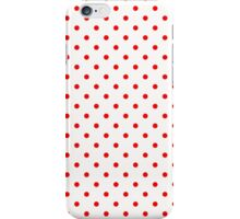 Red Polka Dots on White Pattern iPhone Case/Skin