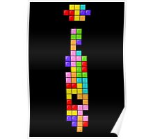 Tetris Thin Tie Poster