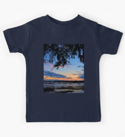 Beaufort Harbor Sunset Kids Tee