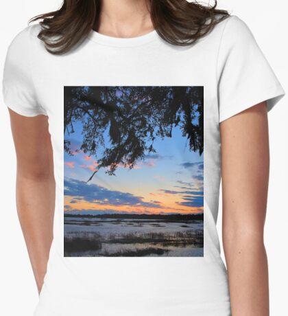 Beaufort Harbor Sunset Womens Fitted T-Shirt