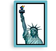 GAY LIBERTY...AND JUSTICE FOR ALL Canvas Print