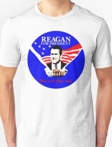 "FARGO Ronald Reagan ""Hail to the Chief, baby."" Oil Painting T-Shirt"
