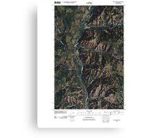 USGS Topo Map Washington State WA Louie Creek 20110413 TM Canvas Print
