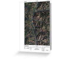 USGS Topo Map Washington State WA Louie Creek 20110413 TM Greeting Card