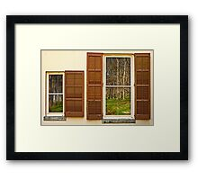 The forest, reflected Framed Print