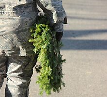 Soldier with a wreath by GalleryThree