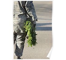 Soldier with a wreath Poster