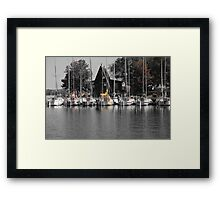 At the Yacht Club Framed Print