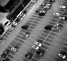 Parking Lot From High Above  by FoodMaster