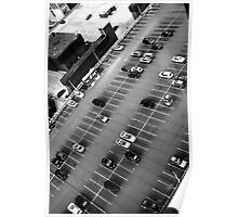 Parking Lot From High Above  Poster