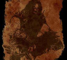 Lobo Silhouette (w/ Grunge Backround) by enfuego360
