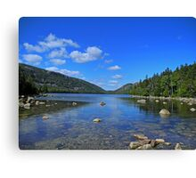 View of Jordan Pond Canvas Print