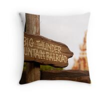 Big Thunder Sign Throw Pillow