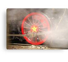 Steam Wheel Metal Print