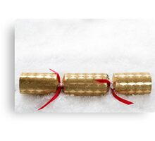 Christmas Cracker in Snow Canvas Print