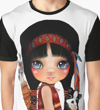 Native Girl Graphic T-Shirt