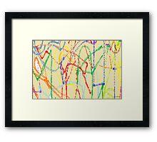 Specks Framed Print