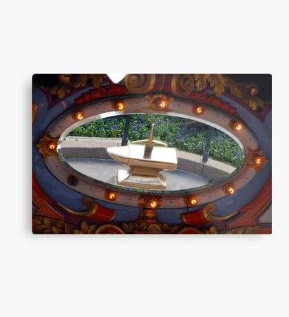Sword in the Stone in the Mirror Metal Print