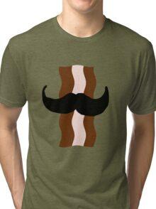 Moustache Bacon  Tri-blend T-Shirt