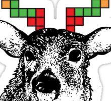 Tetris Deer Sticker