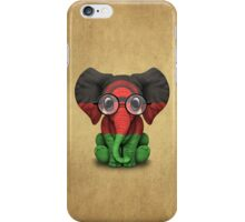 Baby Elephant with Glasses and Malawi Flag iPhone Case/Skin