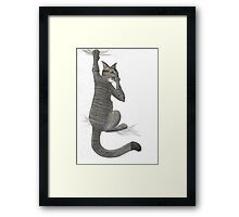 Stalk Cat Framed Print