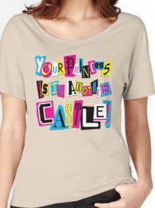 PRINCESS RANSOM NOTE Women's Relaxed Fit T-Shirt