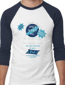 Timey-Wimey Inc Men's Baseball ¾ T-Shirt