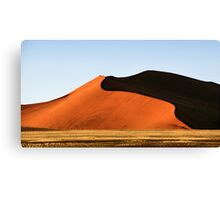 Red Sculptural Dune, Namibia Canvas Print