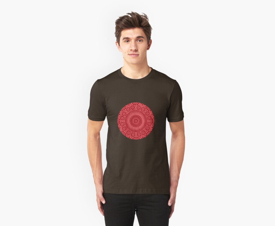 red root chakra mosaic circle by offpeaktraveler