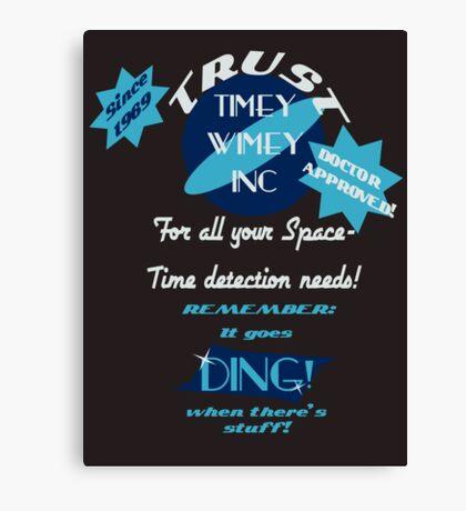 Timey-Wimey Inc Canvas Print